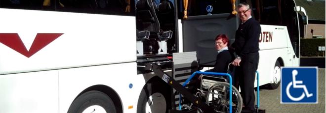 Nieuwe rolstoeltouringcar